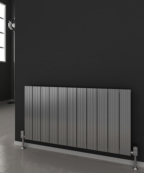 Alternate image of Reina Enzo 1230 x 600mm Horizontal Aluminium Radiator White