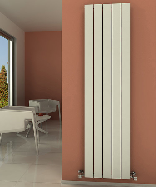 Alternate image of Reina Savona 280 x 1800mm Vertical Aluminium Radiator White