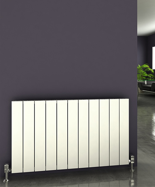 Alternate image of Reina Savona 1230 x 600mm Horizontal Aluminium Radiator White
