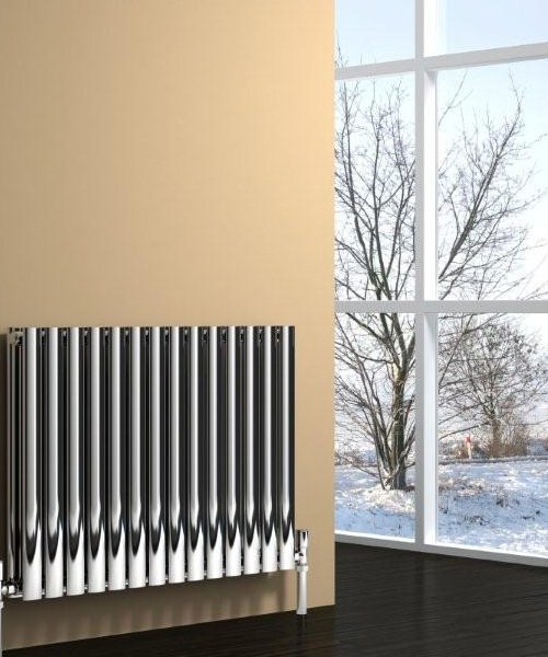 Alternate image of Reina Nerox Double Polished 1180 x 600mm Stainless Steel Radiator