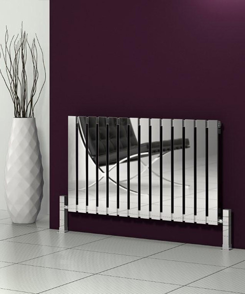 Alternate image of Reina Calix Polished Stainless Steel Radiator 660 x 600mm