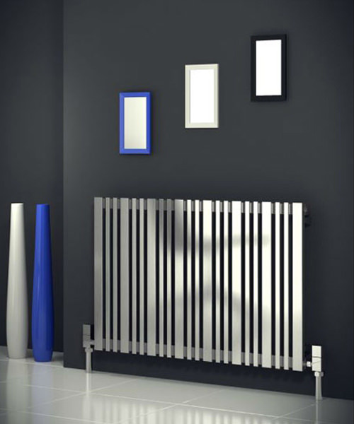 Alternate image of Reina Versa Satin Finish 665 x 600mm Stainless Steel Radiator