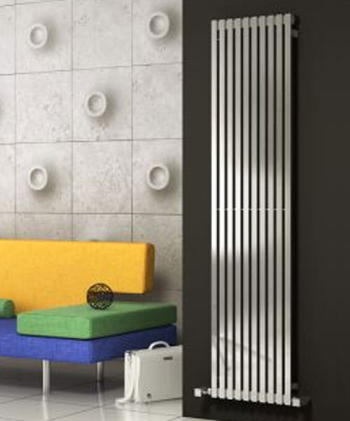 Alternate image of Reina Xeina Satin 245 x 2000mm Stainless Steel Designer Radiator