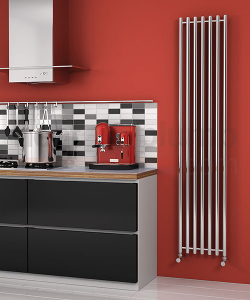 Alternate image of Reina Broni Polished Stainless Steel Radiator 374 x 1200mm
