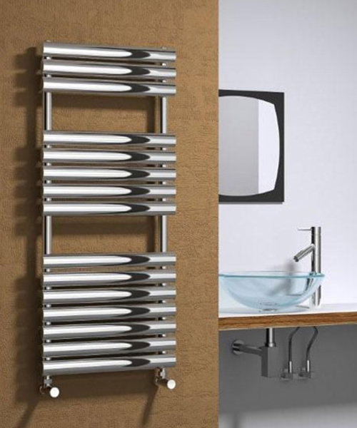 Alternate image of Reina Helin Polished Stainless Steel Designer Radiator 500 x 826mm