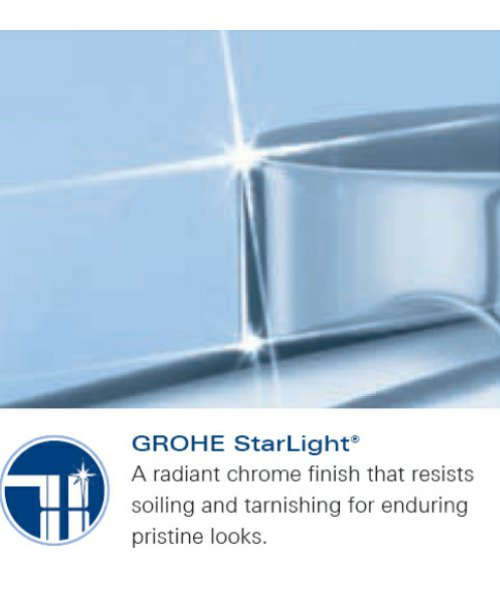 Additional image of Grohe Lineare Concealed Shower Mixer Valve Trim With Metal Handle