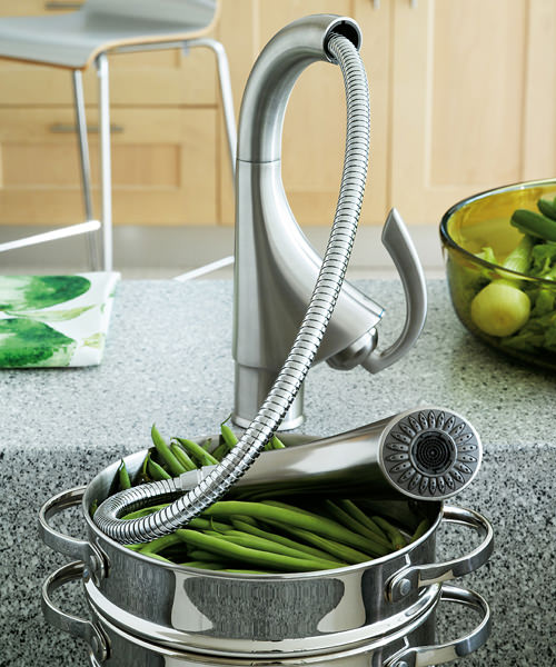 Additional image of Grohe K4 Sink Mixer Tap with Pull Out Spray Stainless Steel