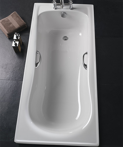 Additional image of Twyford Galerie Single Ended Acrylic Bath With Grips 1700 x 700mm