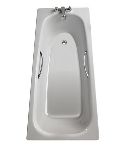 Additional image of Twyford Neptune 1700 x 700mm Slip Resistant Steel Bath