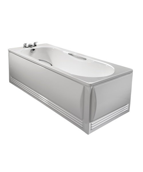 Additional image of Twyford Celtic 140 Litre Slip Resistant 1700 x 700mm Steel Bath With Grips