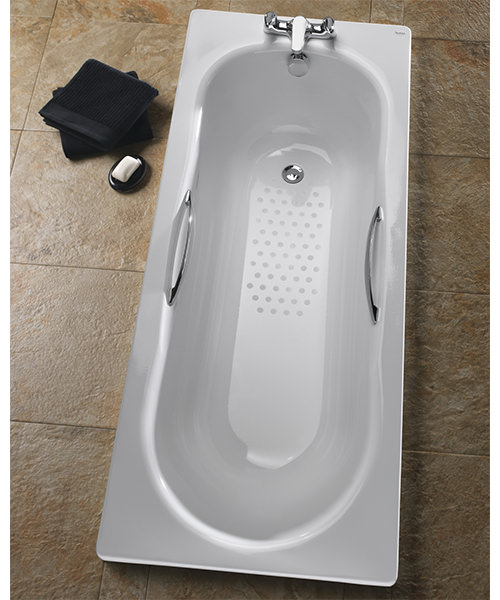 Alternate image of Twyford Celtic Plain Steel Single Ended Bathtub With Legs And Grips