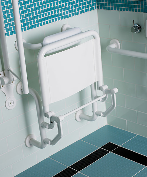 Alternate image of Twyford Doc.M Shower Pack With Grab Rails And Seat