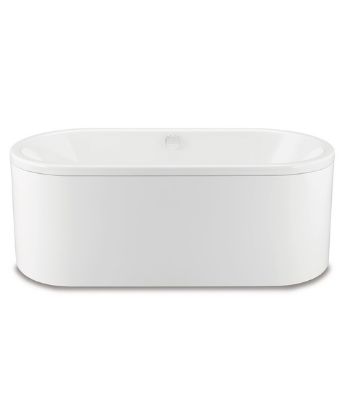 Additional image of Centro Duo Oval 127-7 Moulded Panel Steel Bath 1700 x 750mm