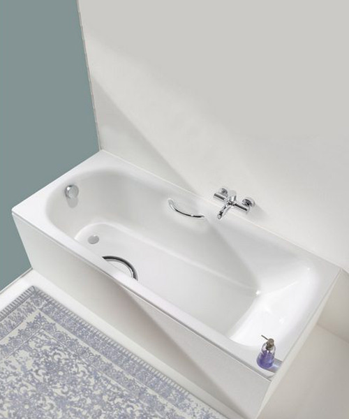 Additional image of Kaldewei Advantage Saniform Plus Star 344 Single End Steel Bath 1400 x 750mm
