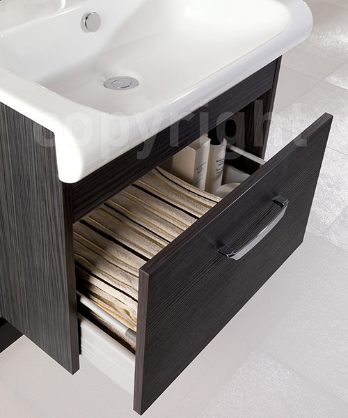 Additional image of Bauhaus Essence Anthracite 600mm Single Drawer Unit And Basin