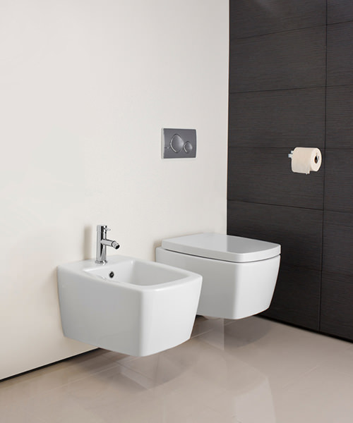 Additional image of Bauhaus Touch White Cloakroom Suite