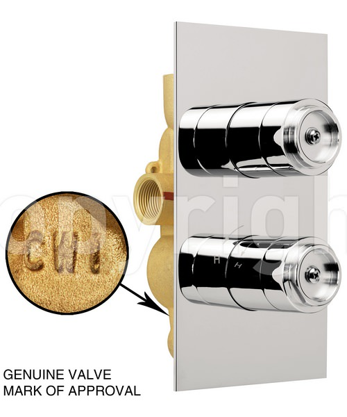 Alternate image of Crosswater Svelte Thermostatic Shower Valve