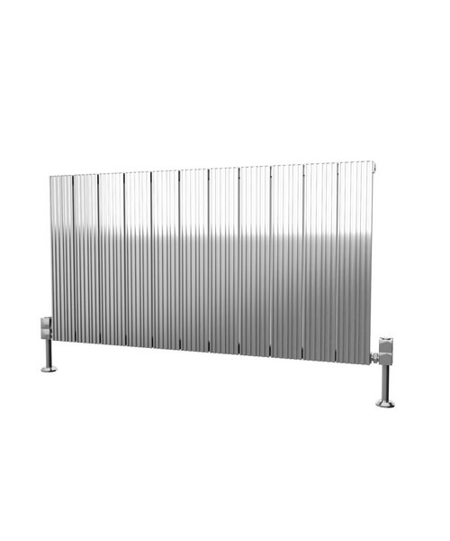Additional image of Reina Enzo 1230 x 600mm Horizontal Aluminium Radiator White