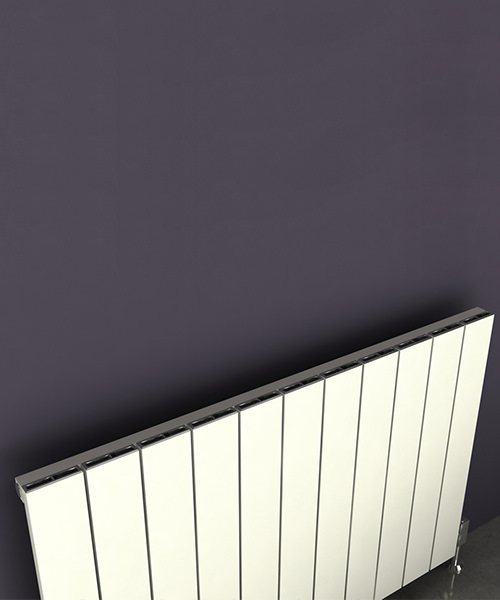 Additional image of Reina Savona 1230 x 600mm Horizontal Aluminium Radiator White