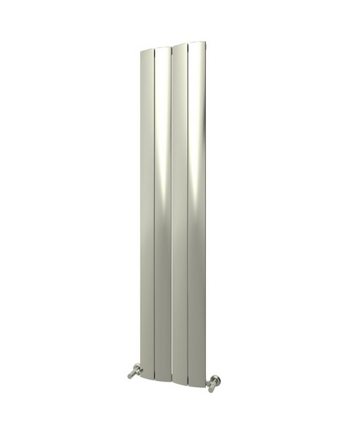Additional image of Reina Evago 225 x 1800mm Vertical Aluminium Radiator White