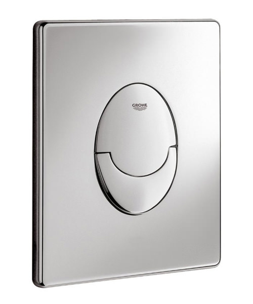 Additional image of Grohe Skate Air Vertical Chrome WC Dual Flushing Wall Plate