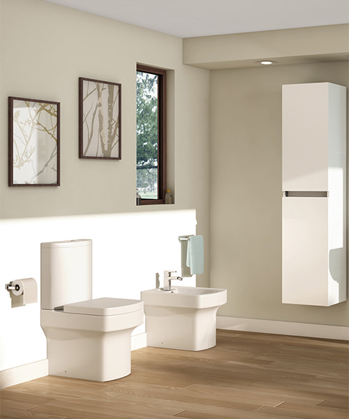 Additional image of Pura Dekka Close Coupled WC Pan With Cistern And Soft Close Seat 610mm