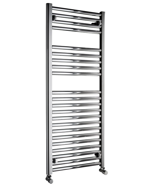 Dq heating metro straight heated towel rail white 400 x 1200mm for Do metro trains have bathrooms