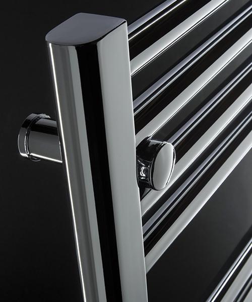 Alternate image of DQ Heating Metro Straight Heated Towel Rail White 300 x 800mmm