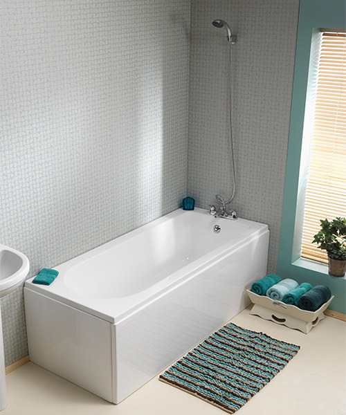 Additional image of Pura Wave 1700 x 750mm Single Ended Bath