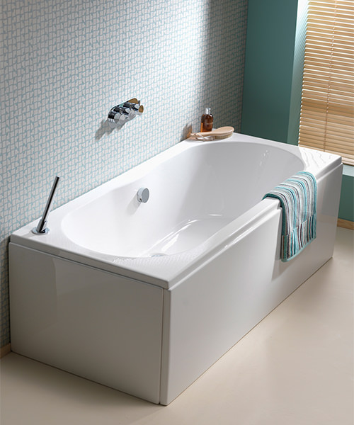 Additional image of Pura Wave Eco 1700 x 750mm Double Ended Bath With Undrilled Overflow