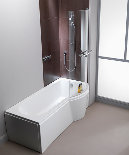Additional image of Pura Arco 1700 x 850mm Right Hand Shower Bath