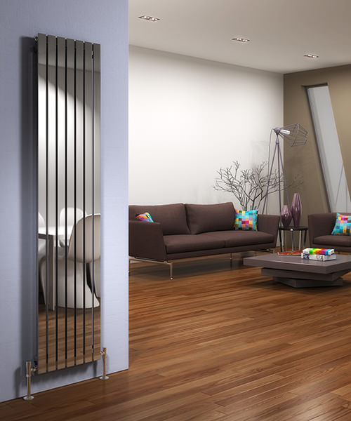 Additional image of DQ Heating Delta Brushed Stainless Steel Vertical Radiator 230 x 1600mm