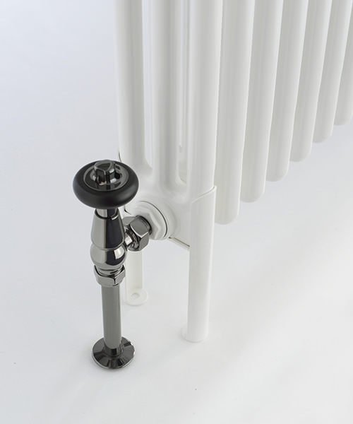 Alternate image of DQ Heating Peta 3 Column 161 x 592mm Radiator White - 3 To 40 Sections