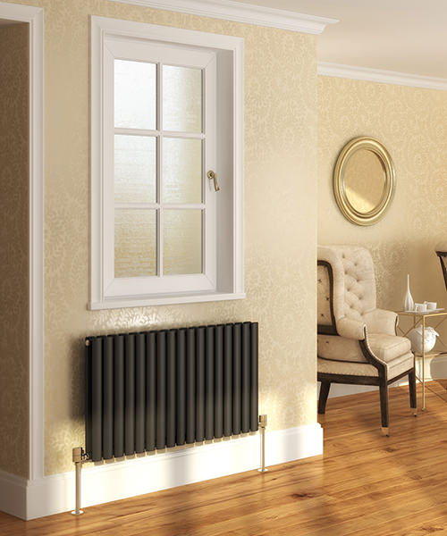 Additional image of DQ Heating Cove Double Horizontal Radiator 1180 x 550mm White