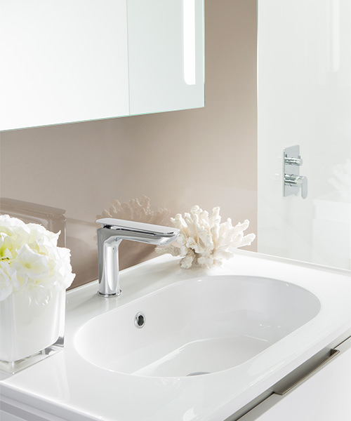 Additional image of Crosswater Kelly Hoppen Zero 2 Monobloc Chrome Basin Mixer Tap