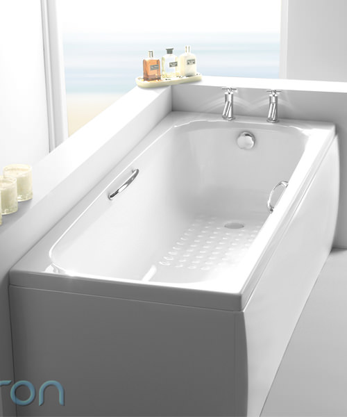 Additional image of Carron Swallow Twin Grip 5mm Acrylic Single Ended Bath 1700 x 700mm