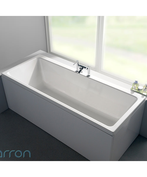 Additional image of Carron Quantum Double Ended 5mm Acrylic Bath 1900 x 900mm