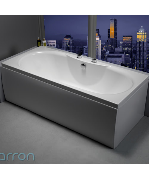 Additional image of Carron Equation 5mm Acrylic Double Ended Bath 1700 x 750mm