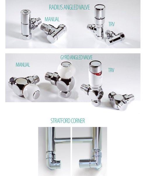 Additional image of MHS Zaros Vertical 525 x 1800mm Aluminium Designer Radiator