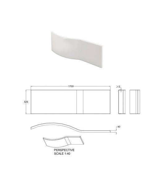 Alternate image of Britton Cleargreen EcoRound Right Hand Shower Bath 1500 x 900mm