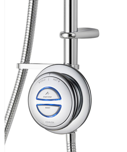 Additional image of Aqualisa Quartz Exposed Digital Shower With Adjustable Head - HP Combi