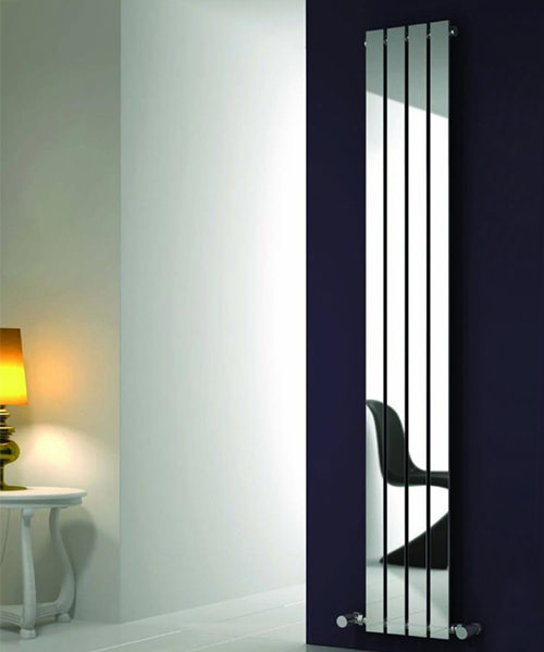 Alternate image of Reina Osimo Chrome 430 x 1800mm Designer Vertical Radiator