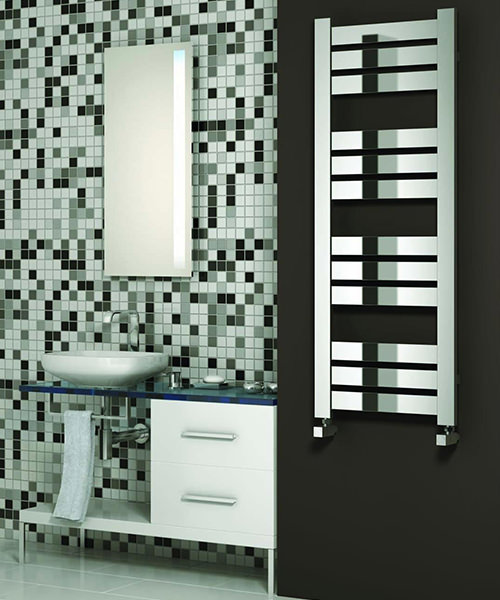 Alternate image of Reina Riva 500 x 620mm Designer Radiator Chrome
