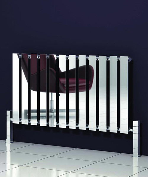 Alternate image of Reina Pienza Chrome 825 x 550mm Designer Horizontal Radiator