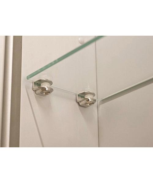 Alternate image of RAK Vogue Luxury Aluminium Double Door Mirror Cabinet 600 x 700mm