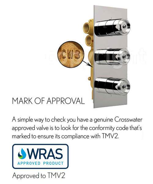 Alternate image of Crosswater Waldorf Black Lever Portrait Thermostatic Valve With 3W Diverter