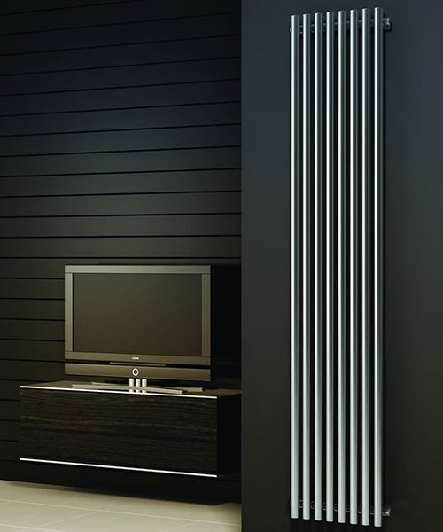 Alternate image of Reina Orthia Satin Stainless Steel Radiator 295 x 1800mm