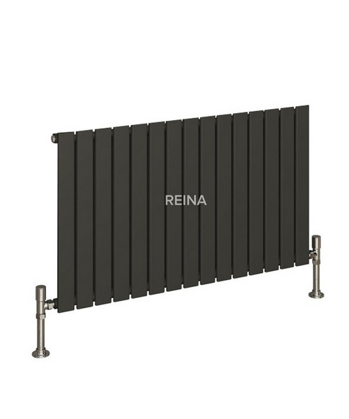 Alternate image of Reina Flat Horizontal Single Panel White Designer Radiator 810 x 600mm