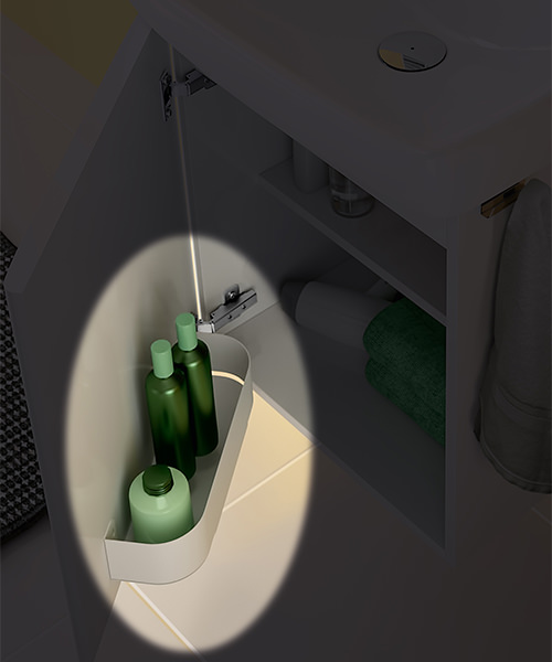 Alternate image of Twyford E100 Square 305mm Unit For 360mm Single Or Two Hole Washbasin