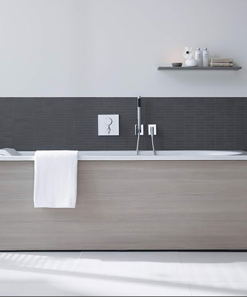 Alternate image of Duravit Darling New 1600 x 700mm Bath With Left Slope And Combi-System L